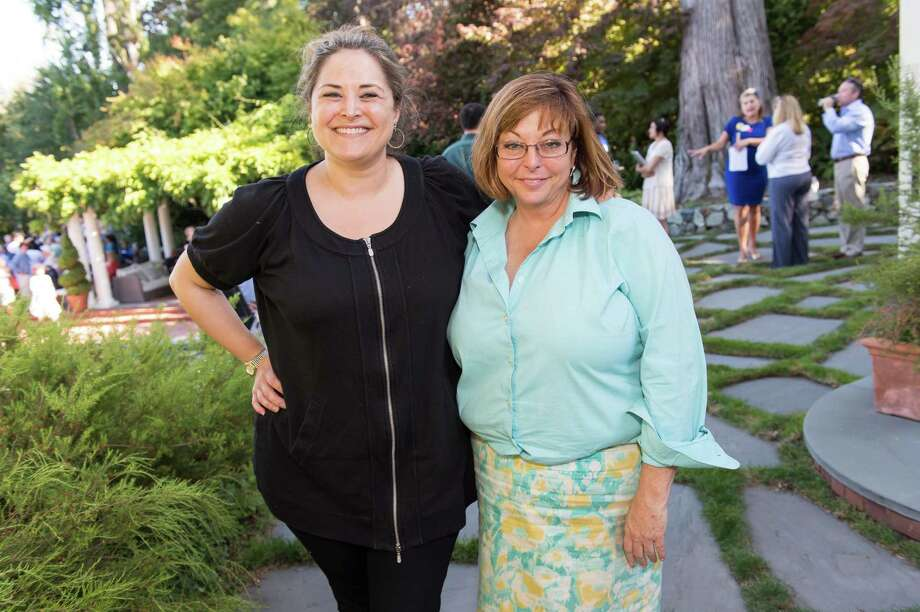 Amanda Ross and Maureen Kelly at CASA of San Mateo County's Auxiliary Garden Party on August 24. 2014. Photo: Susana Bates For Drew Altizer, Drew Altizer Photography / DREW ALTIZER PHOTOGRAPHY