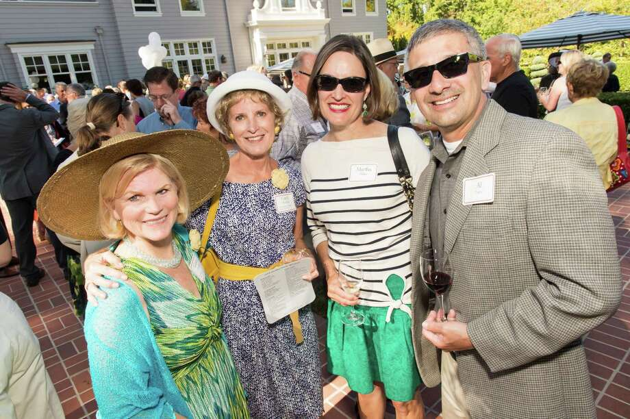 Gayle Carboni, Carol Harband, Martha Phillips and Al Taira at CASA of San Mateo County's Auxiliary Garden Party on August 24. 2014. Photo: Susana Bates For Drew Altizer, Drew Altizer Photography / DREW ALTIZER PHOTOGRAPHY