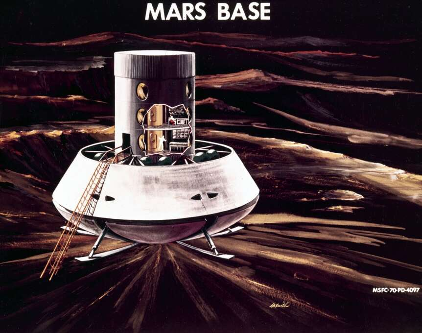 During the 1960s and 1970s it was generally considered that the next step in space exploration after the Apollo manned Moon landings would be a manned mission to Mars. This did not materialise and there are no plans to send men to Mars in the foreseeable future.  (Photo by SSPL/Getty Images) Photo: Science & Society Picture Librar, SSPL Via Getty Images