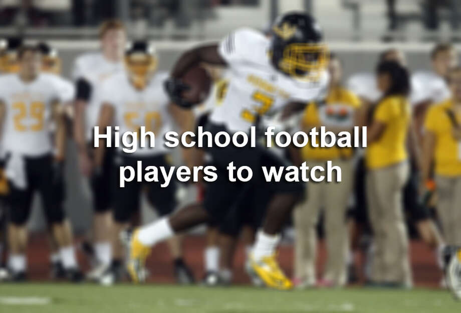 If you want to see fantastic high school action, these are some of the San Antonio-area players to keep an eye on this year, according to the San Antonio Express-News high school football team. Photo: San Antonio Express-News / ©2012 San Antonio Express-News