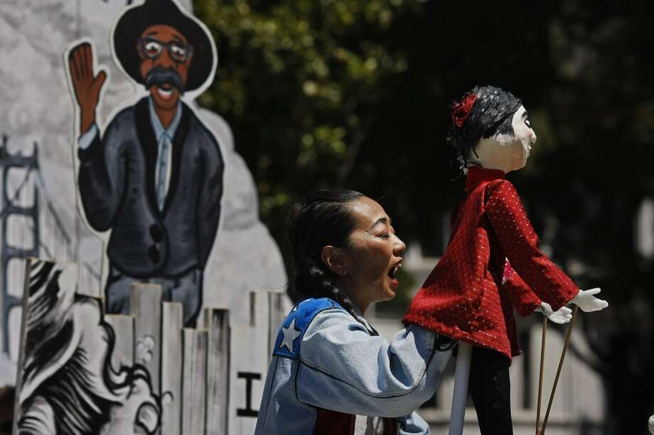 "If you've missed the San Francisco Mime Troupe's latest show up until now, this is the last chance to check it out. ""Ripple Effect"" tackles the city's issues of the moment, including skyrocketing rents, ""the war on the poor,"" tech workers and more. The final performances are Thursday night at Troupe Studio Space (must RSVP), Saturday at Golden Gate Park's Peacock Meadow and Sunday and Monday in Dolores Park. Photo: James Tensuan, The Chronicle"
