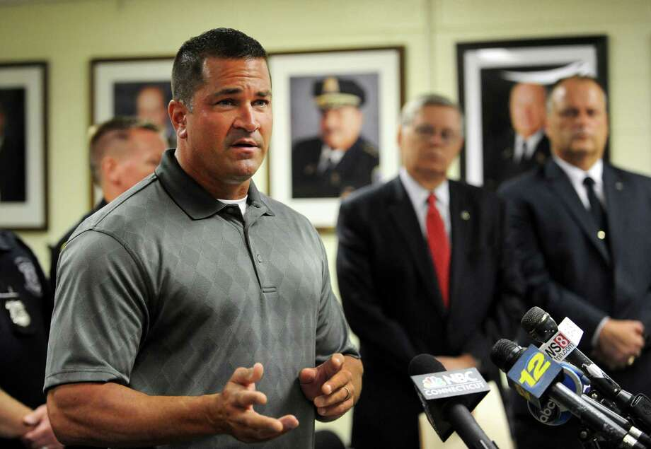 Lt. Diedrich Hohn speaks about the arrest of Shota Mekoshvili, the suspect in the stabbing death of Mahomed Kamalat during a press conference at the Stamford Police Department in Stamford, Conn. on Thursday, Aug. 28, 2014. Kamal, a Stamford taxi driver, was killed in a stabbing on Doolittle Rd. in Stamford, Conn., on Wednesday, Aug. 27, 2014. Photo: Cathy Zuraw / Stamford Advocate