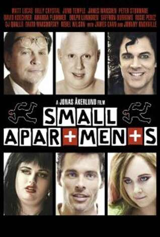 'Small Apartments' - Franklin Franklin has a dead landlord on the kitchen floor and an investigator (Billy Crystal) questioning him. But none of this fazes Franklin. He waits each day for a letter from his brother (James Marsden) who has the secret that can set him free. Available Sept. 1 Photo: Movie Poster