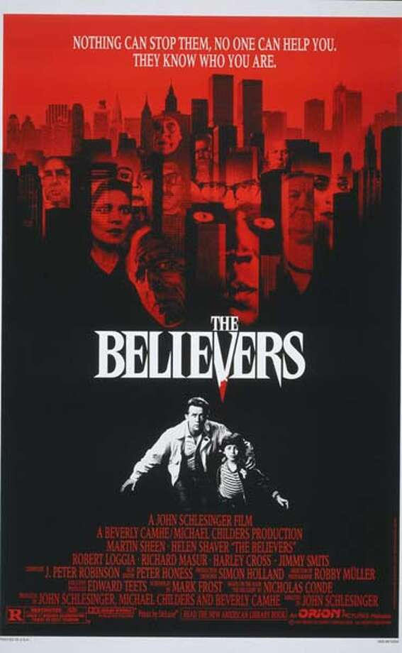 'The Believers'- Mourning the accidental death of his wife and having just moved to New York with his young son, laconic police psychologist Cal Jamison is reluctantly drawn into a series of grisly, ritualistic murders involving the immolation of two youths. Available Sept. 1 Photo: Movie Poster
