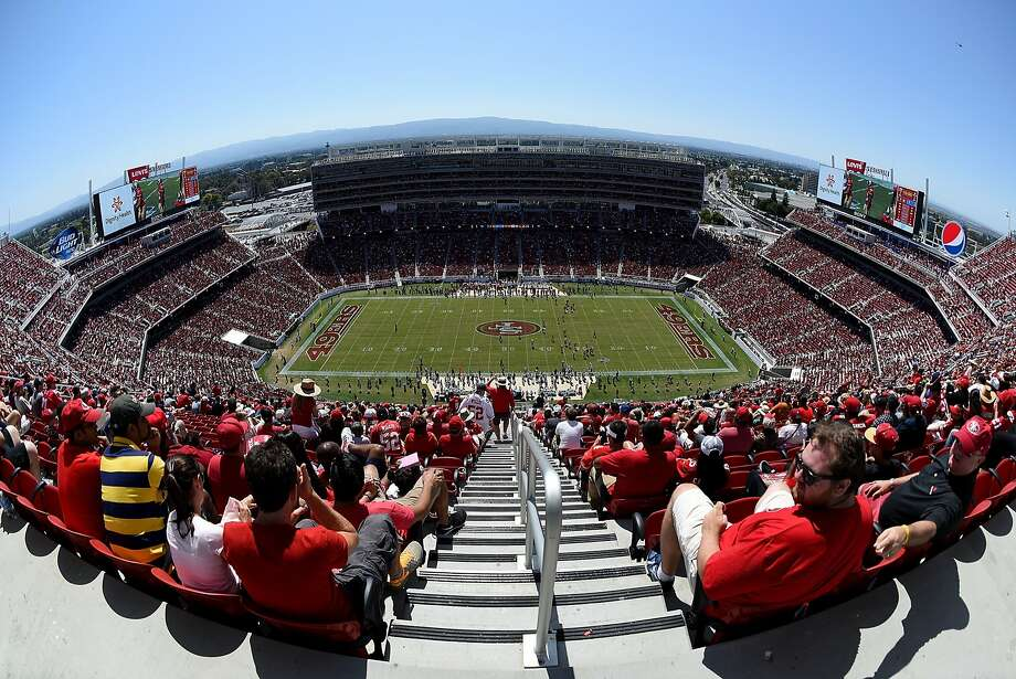 At the Niners' first exhibition at Levi's Stadium, it was so hot that fans fled the grandstands to find shade. If it's that hot at the home opener, the 49ers could do what the ancient Romans did. Photo: Thearon W. Henderson, Getty Images