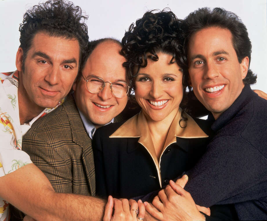 "Is it any surprise that Ken Hoffman believes ""Seinfeld"" is the best TV comedy of all time?The show starring, from left, Michael Richards, Jason Alexander, Julia Louis-Dreyfus and Jerry Seinfeld, won only one Emmy. / handout web"