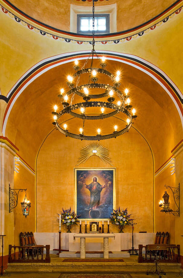 "San Antonio photographer Al Rendon celebrates San Antonio's historic missions in the exhibition ""Timeless Icons"" at the International Center. Mission Concepción's altar is seen above. Photo: Courtesy Al Rendon"