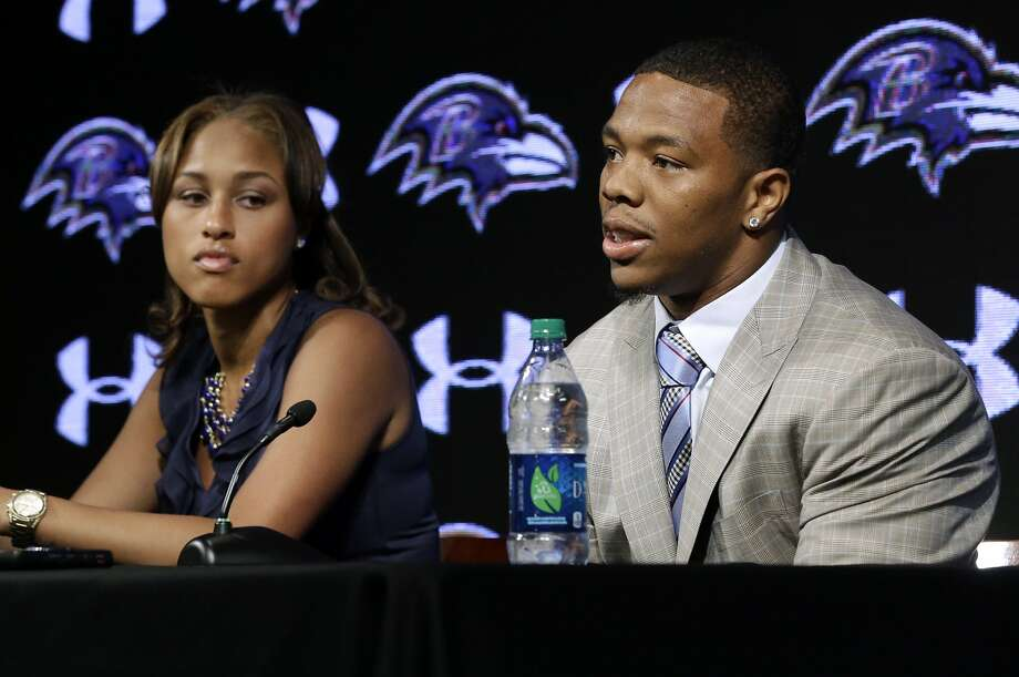 Commissioner Roger Goodell acknowledged that the two-game suspension for Ravens running back Ray Rice, shown with his wife, Janay, for a domestic violence incident was insufficient. Photo: Patrick Semansky, Associated Press