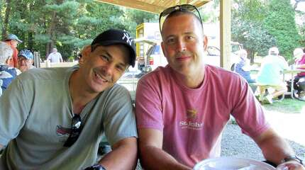 Joe Pettrucelli,  left, breakfasts with Peter Orrico Jr. recalled growing up in the âÄúeliteâÄù areas of Mianus and Cos Cob.