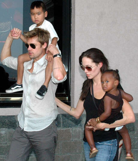 Brad Pitt and Angelina Jolie have been together nearly a decade and have six children, all of whom participated in Saturday's wedding. Photo: Associated Press / File Photo / AP