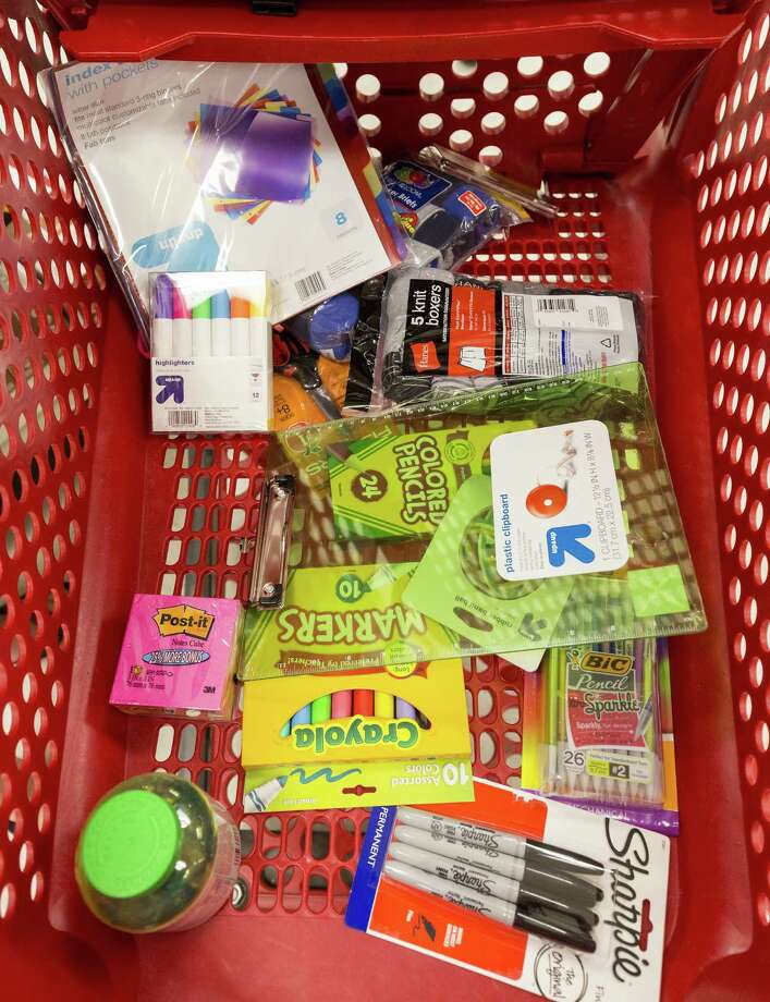 School supplies are high on shoppers' lists this weekend. Photo: Craig H. Hartley / For The Houston Chronicle / Copyright: Craig H. Hartley