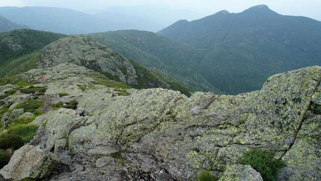 The summit of Haystack Mountain with Basin in the distance. (Herb Terns) Photo: Picasa