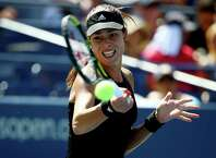 NEW YORK, NY - AUGUST 28:  Ana Ivanovic of Serbia returns a shot to Karolina Pliskova of the Czech Republic during their women's singles second round match on Day Four of the 2014 US Open at the USTA Billie Jean King National Tennis Center on August 28, 2014 in the Flushing neighborhood of the Queens borough of New York City.  (Photo by Streeter Lecka/Getty Images) *** BESTPIX *** ORG XMIT: 507832305