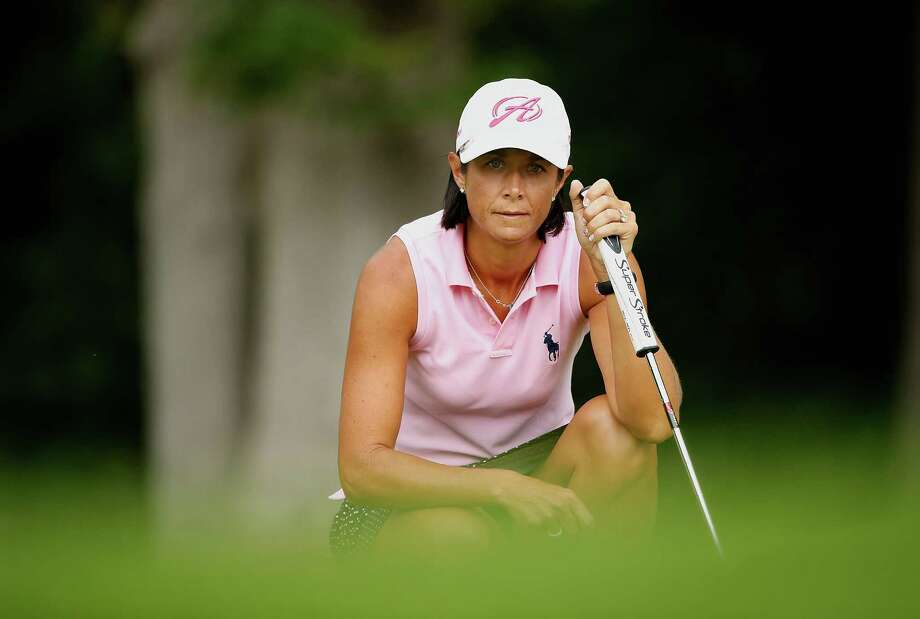 SYLVANIA, OH - JULY 19: Laura Diaz reads a putt on the sixth green during the third round of the Marathon Classic presented by Owens Corning and O-I  at Highland Meadows Golf Club on July 19, 2014 in Sylvania, Ohio.  (Photo by Gregory Shamus/Getty Images) ORG XMIT: 462149455 Photo: Gregory Shamus / 2014 Getty Images