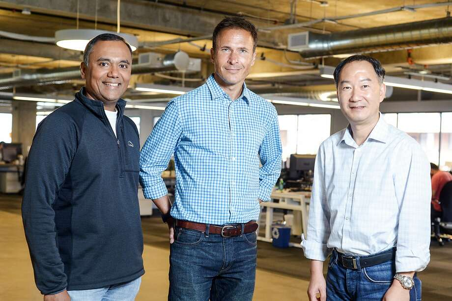 Dave Arnold (left), Paul Sebastien and Richard Qiu are joining Udemy. Photo: Courtesy Udemy