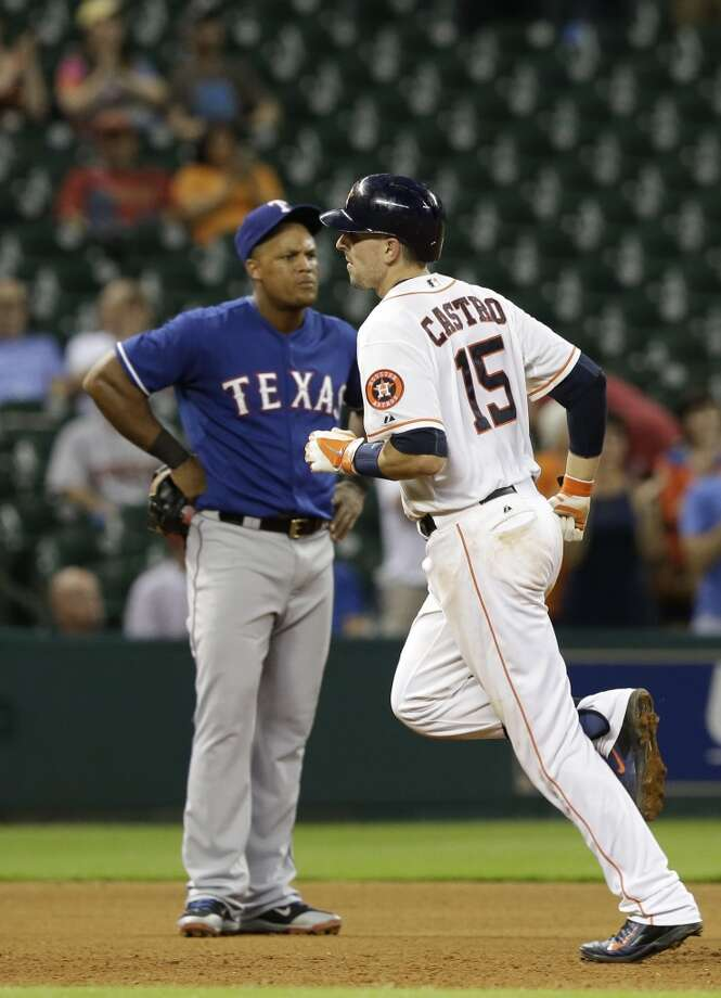 August 28: Astros 4, Rangers 2Astros catcher Jason Castro belted a grand slam in Thursday's series-opening win over the in-state rival Rangers.  Record: 57-78. Photo: Pat Sullivan, Associated Press