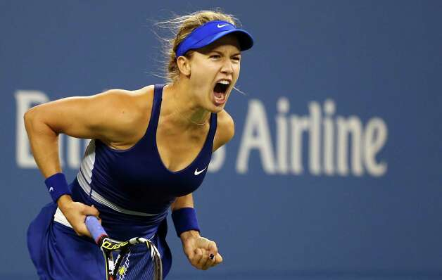 NEW YORK, NY - AUGUST 28:  Eugenie Bouchard of Canada celebrates match point against Sorana Cirstea of Romania on Day Four of the 2014 US Open at the USTA Billie Jean King National Tennis Center on August 28, 2014 in the Flushing neighborhood of the Queens borough of New York City.  (Photo by Streeter Lecka/Getty Images) ORG XMIT: 507832305 Photo: Streeter Lecka / 2014 Getty Images