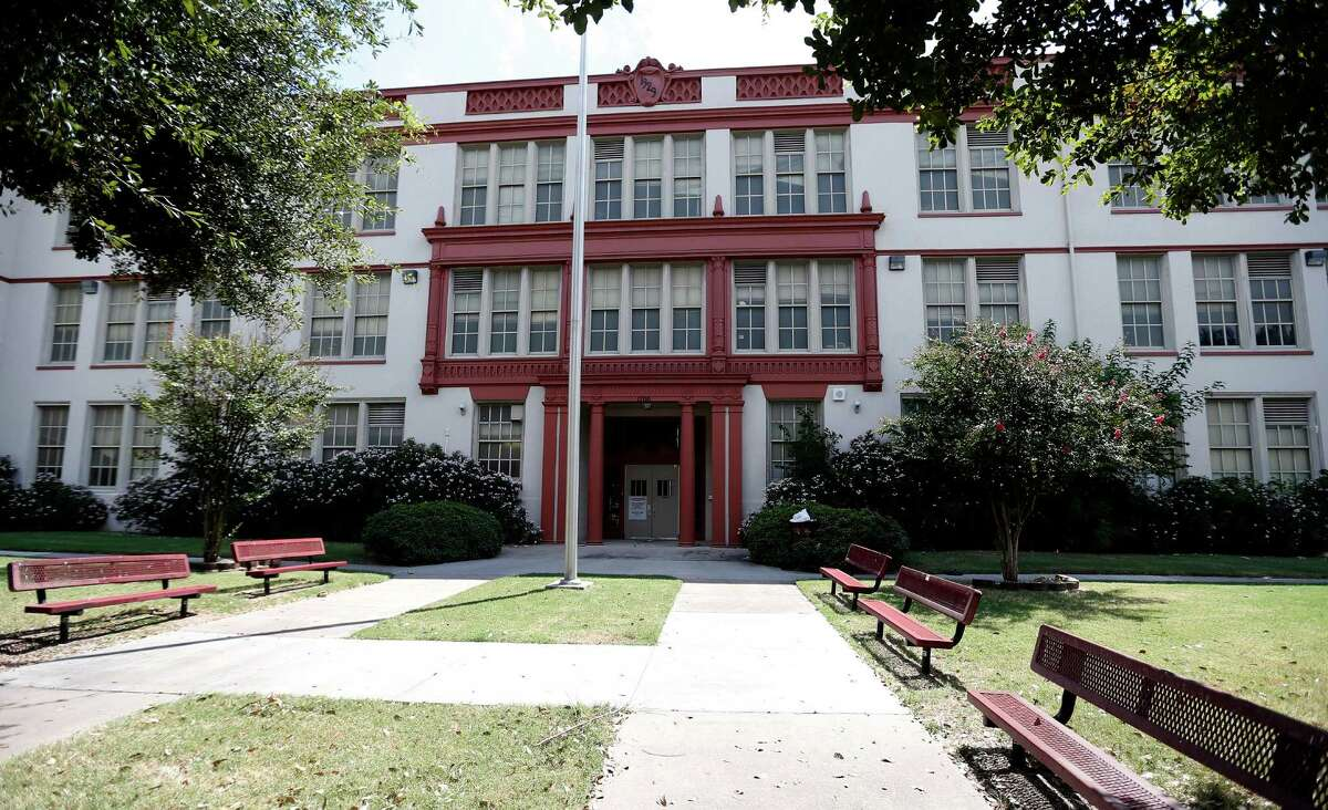 The Phillis Wheatley High School and later EO Smith Junior/Middle School at 1700 Gregg Street, Wednesday, Aug. 27, 2014, in Houston.