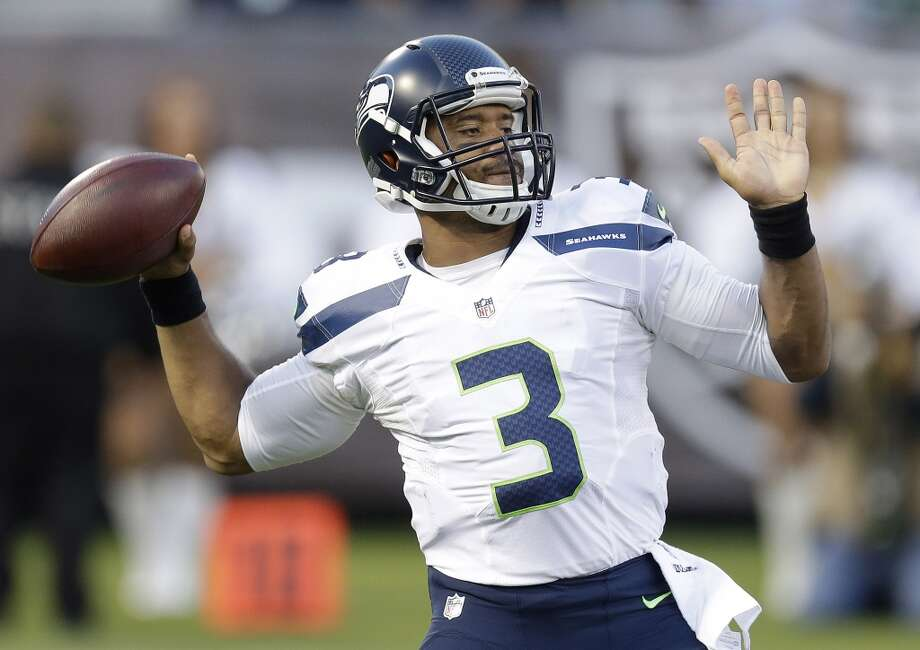 QB Russell WilsonSimply put, Wilson was spectacular throughout the entire preseason. The third-year signal-caller passed for 437 yards and three touchdowns while completing 33 of 42 attempts and added 61 yards and another three scores on the ground. Wilson led the Hawks to scores on 11 of his 13 drives in four preseason games, including a four-play drive that went 80 yards to open Thursday night's matchup in Oakland.But it's not simply about the outcomes with Wilson, it's how in-command he's looked while leading the team. We've said it before, but we'll say it again: Wilson could be headed for a big season in 2014. Photo: Ben Margot, Associated Press