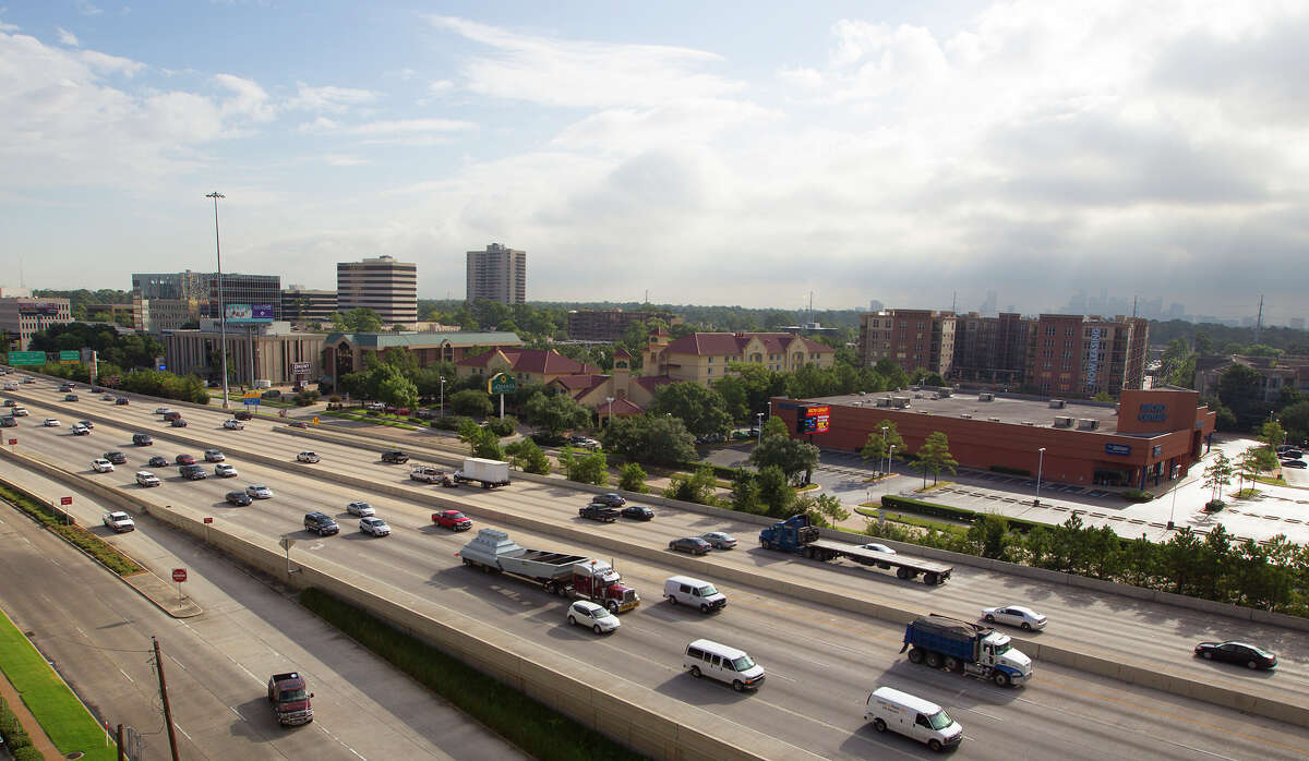 Drivers make their way along 610 near U.S. 59on Aug. 28. Loop 610 between Interstate 10 and U.S. 59 west of downtown Houston is the most congested segment of highway in the state, according to the newest ranking by the Texas Department of Transportation.