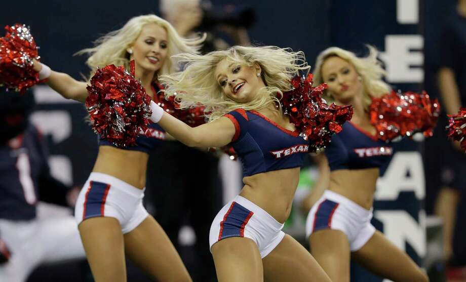 Houston Texans cheerleaders on Aug. 28, 2014. Photo: David J. Phillip, Associated Press / AP