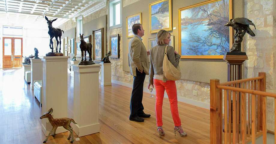 Visitors to InSight Gallery in Fredericksburg find soothing landscapes and nature scenes amid animal and western-themed sculptures. Photo: Courtesy Photo