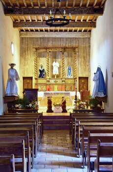 The beautiful altar at Mission San Juan also is featured in the exhibit.