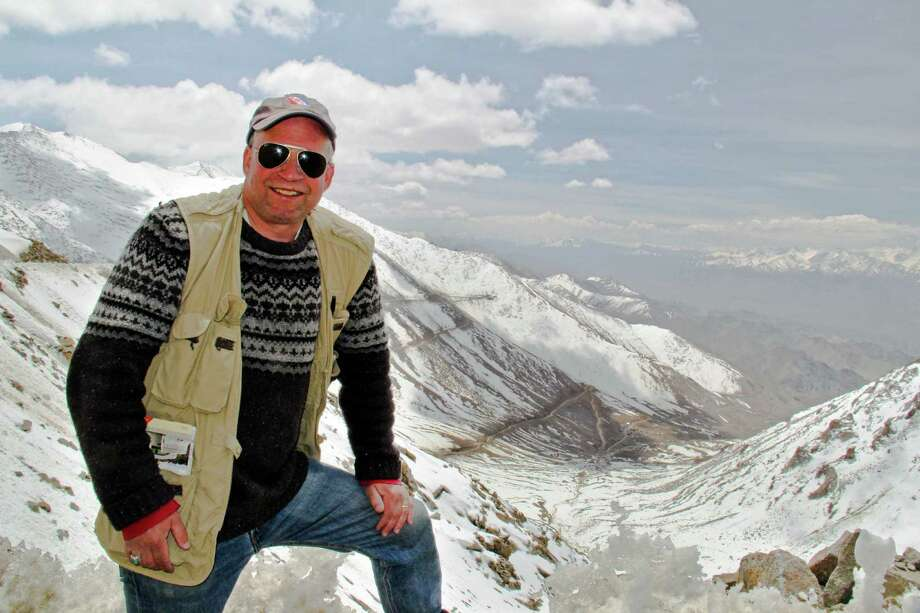 Photographer Daryl Hawk, shown in an Indian mountain pass earlier this year, will give a presentation on that trek Sept. 9 at the Unitarian Church. The program, open to the public, is sponsored by the Appalchian Mountain Club. Photo: Contributed Photo / Westport News