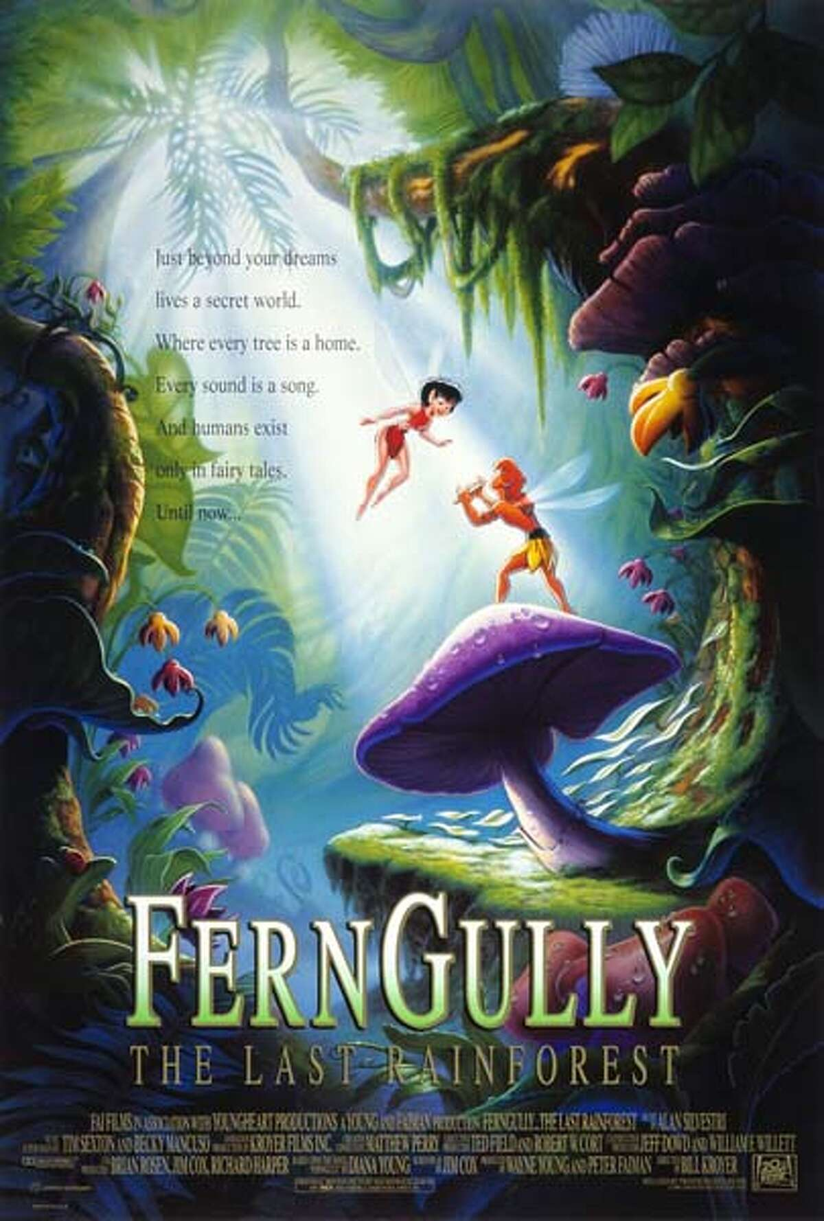 Fern Gully: The Last Rainforest (1992) Leaving Netflix March 1The magical inhabitants of a rainforest fight to save their home, which is threatened by logging and a polluting force of destruction called Hexxus.
