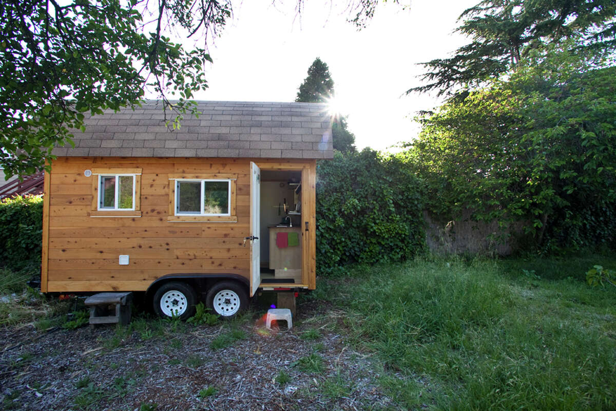 Quirky and cool Airbnb listings in the Bay Area... Tiny house in a large yard Berkeley; $80 per night This little hand-crafted home has a sitting area, fold-out table, office, and kitchen. The bed is lofted, accessible by ladder. The house has wireless internet. It accommodates up to three people.
