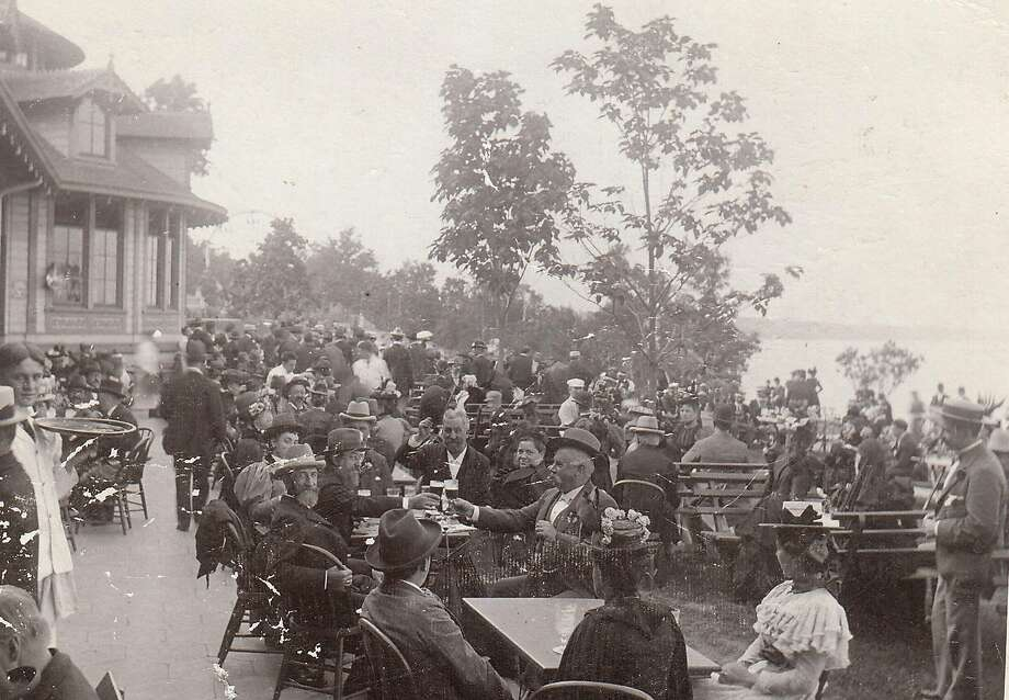 A photo provided by the Pabst Mansion shows a beer garden around 1895 in Whitefish Bay, Wis. Photo: Associated Press