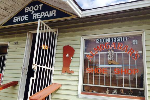 Almogabar's shoe-repair shop on 19th Street in the Heights.