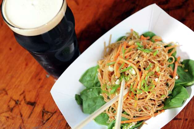 Singapore Tailgate Noodles on Tuesday, Aug. 19, 2014, at The Ruck in Troy, N.Y. (Cindy Schultz / Times Union) Photo: Cindy Schultz / 00028216A