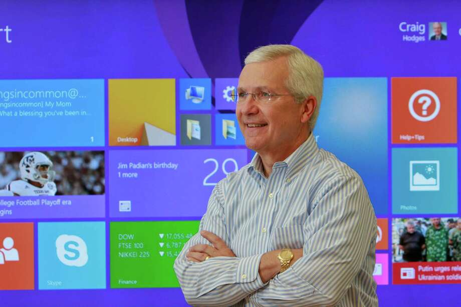 """Craig Hodges, general manager of Microsoft's Gulf Coast office, grew up in Houston. """"A lot of competition is coming at us every day, and we're coming right back at them,"""" Hodges says. Photo: Gary Fountain, Freelance / Copyright 2014 by Gary Fountain"""