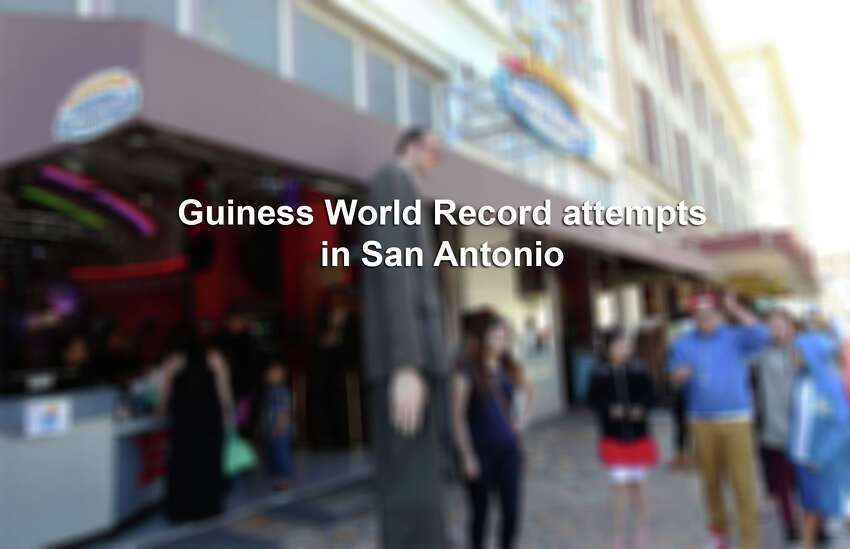 We're sure you've seen reports of the smallest women, or the woman with the longest fingernails but here's a roundup of San Antonio's attempts to beat world records: