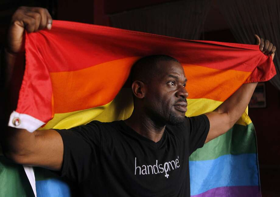 Joe Hawkins, a veteran of East Bay lesbian, gay, bisexual and transgender festivals, is grand marshal of Oakland's parade. Photo: Paul Chinn, The Chronicle