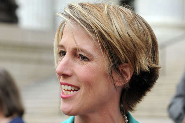 Democratic candidate for New York Governor Zephyr Teachout makes a campaign stop at the State Education Building on Thursday Aug. 28, 2014 in Albany, N.Y.  (Michael P. Farrell/Times Union) Photo: Michael P. Farrell, Albany Times Union / 00028380A