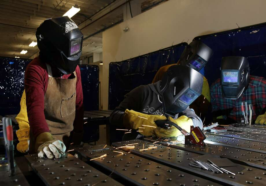 Pundits promote the learning of skills, such as welding, to address America's skills gap. The bigger need is for thinking. Photo: Carlos Avila Gonzalez, The Chronicle