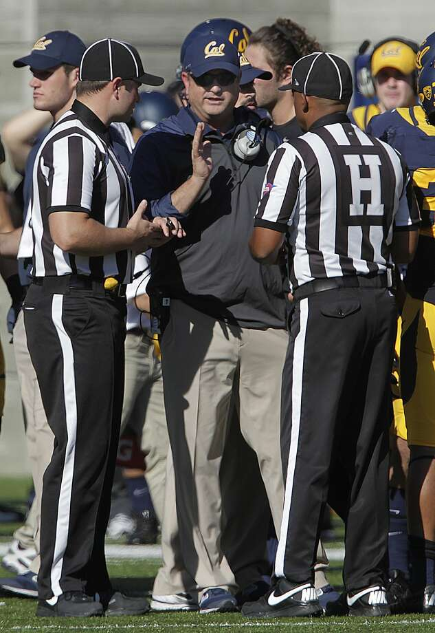 Something is about to go right for second-year Cal head coach Sonny Dykes, at least in the opener. Photo: Paul Chinn, The Chronicle