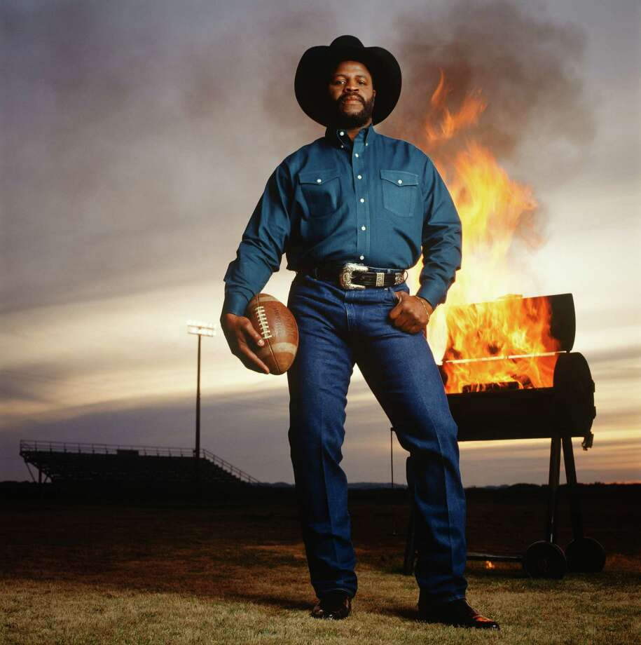 Athlete and entrepreneur Earl Campbell. Blanco, 1993. Photo: Michael O'Brien / ©2014 Michael O'Brien