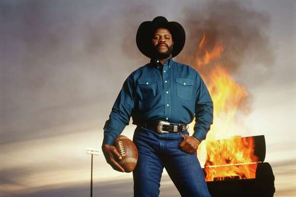 Athlete and entrepreneur Earl Campbell. Blanco, 1993.