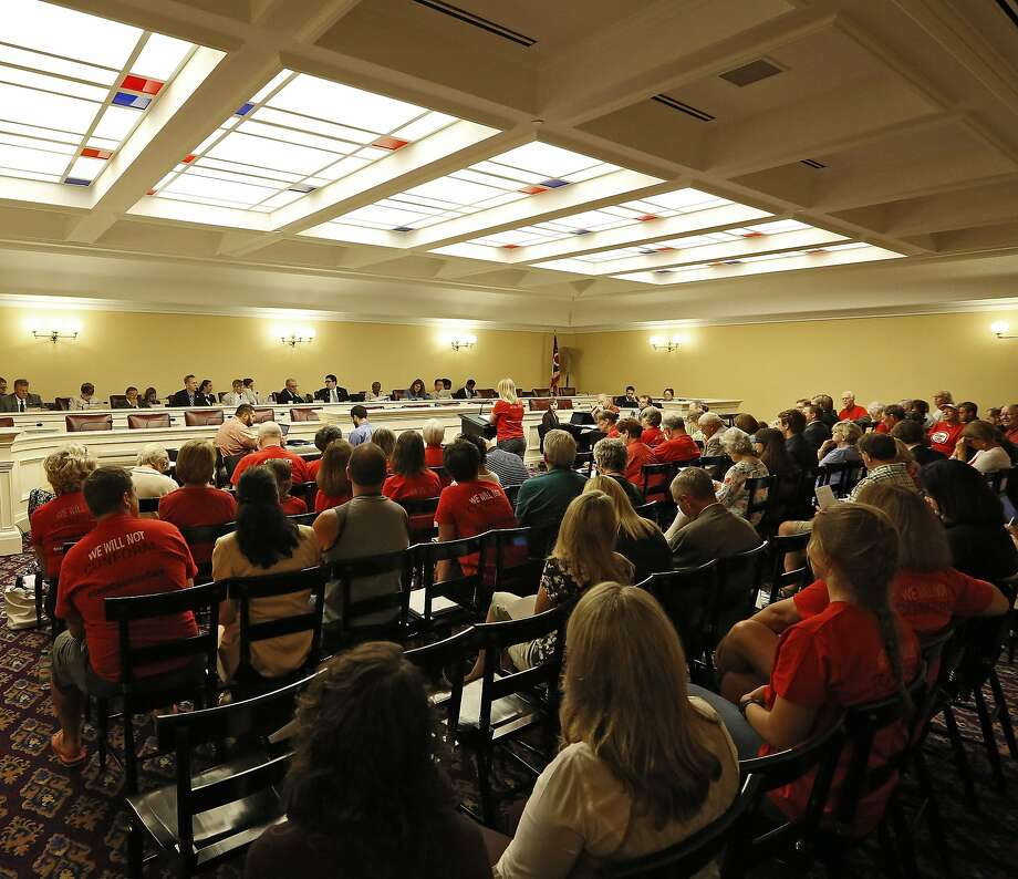 At the Statehouse in Columbus, the Ohio Legislature holds hearings Aug. 18 on proposals to scrap Common Core. Four states have already pulled out of participating in the standards. Photo: Kyle Robertson, Associated Press