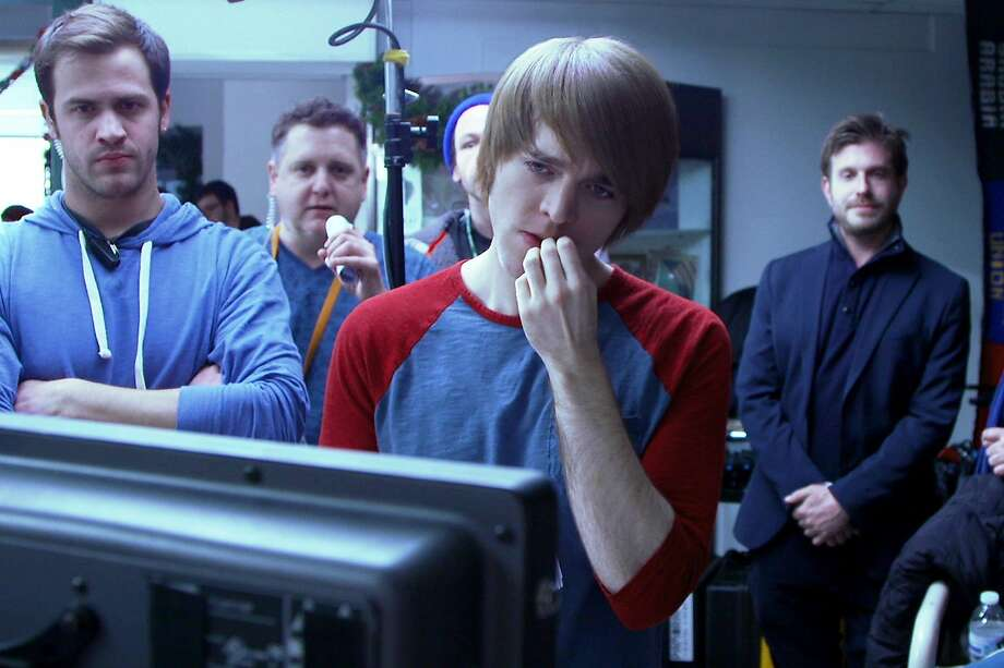"Shane Dawson (center) who has more than 10 million subscribers to his YouTube channels,  is one of the independent filmmaking contestants in the unscripted series ""The Chair."" Photo: Starz"