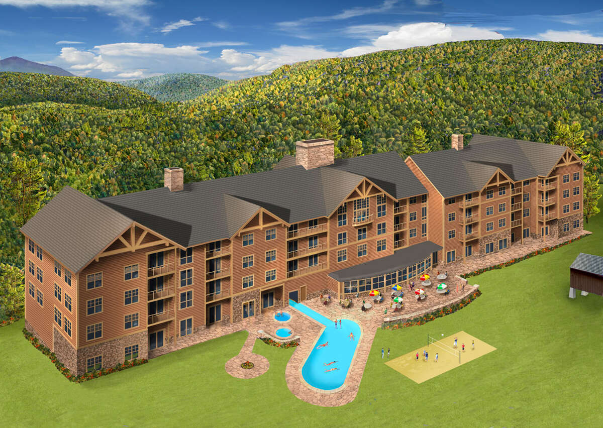 An artist's reendering of a resort hotel planned for the Catamount Ski Area in Copake, Columbia County