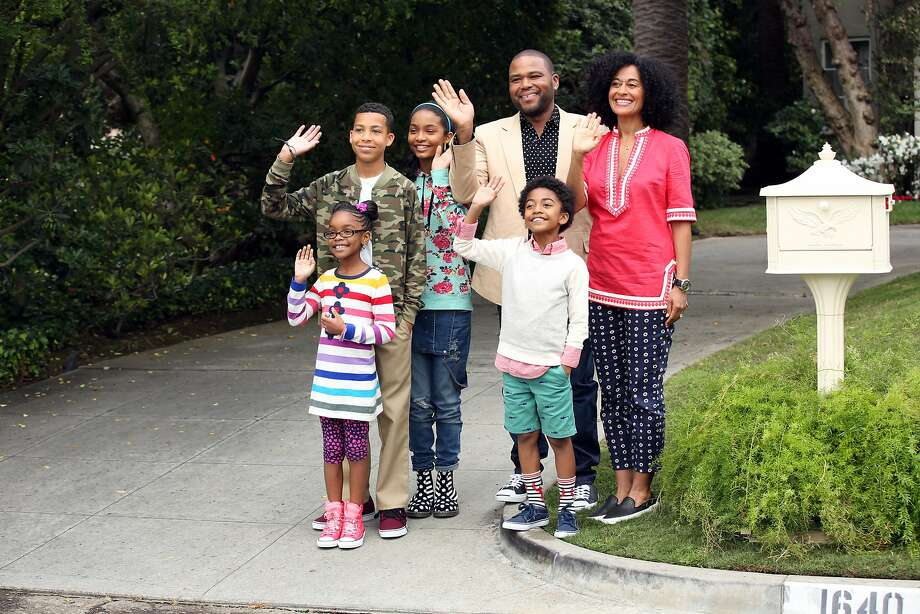 "ABC's new family comedy, ""black-ish,"" takes a fun yet bold look at one man's determination to establish a sense of cultural identity for his family. The series stars Anthony Anderson, Tracee Ellis Ross and special guest star Laurence Fishburne. (ABC/Adam Taylor) MARSAI MARTIN, MARCUS SCRIBNER, YARA SHAHIDI, ANTHONY ANDERSON, MILES BROWN, TRACEE ELLIS ROSS BLACK-ISH - ABC's new family comedy, ""black-ish,"" takes a fun yet bold look at one man's determination to establish a sense of cultural identity for his family. The series stars Anthony Anderson, Tracee Ellis Ross and special guest star Laurence Fishburne. (ABC/Adam Taylor) MARSAI MARTIN, MARCUS SCRIBNER, YARA SHAHIDI, ANTHONY ANDERSON, MILES BROWN, TRACEE ELLIS ROSS Photo: Adam Taylor, ABC"