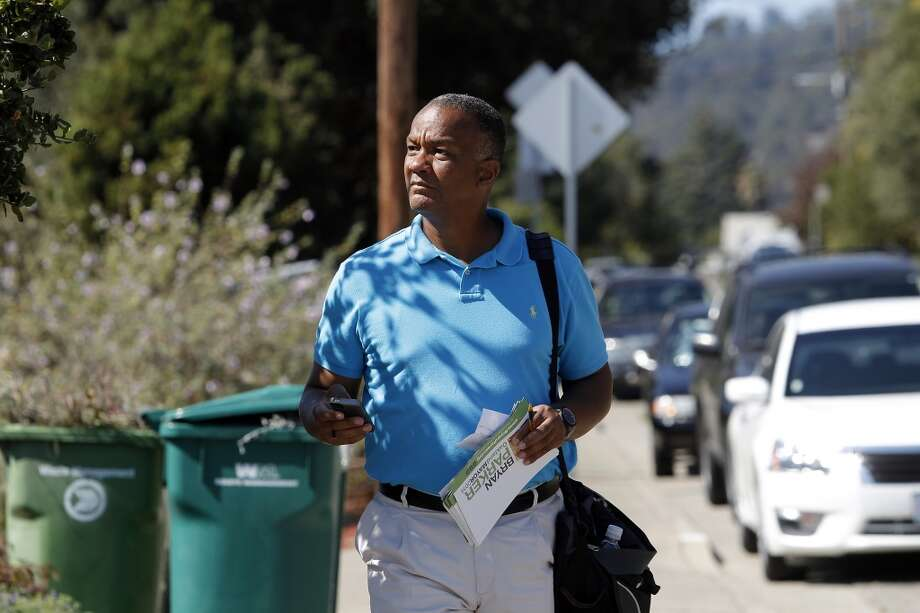 """Bryan ParkerAge: 45Occupation: businessperson/university trusteeNeighborhood: North Oakland hillsMoney raised: $277,000 (he loaned himself $30,000)Did you know?: Silicon Valley gossip website Valleywag said electing Parker mayor """"will be a disaster for Oakland"""" when Parker suggested crypto-currency Bitcoin could help end poverty.Quote: """"Could we see a day where (city employees) are paid out in bitcoin? Absolutely. In early days, people were probably paid out in little pieces of gold."""" Photo: Michael Short, The Chronicle"""