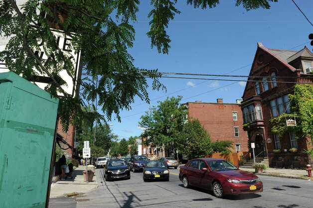 The corner of 6th and Glen Avenues where a shooting took place on Thursday evening on Friday Aug. 29, 2014 in Troy, N.Y. Troy police announced Friday they are putting another 20 officers on the street in the wake of recent violence.(Michael P. Farrell/Times Union) Photo: Michael P. Farrell / 10028399A