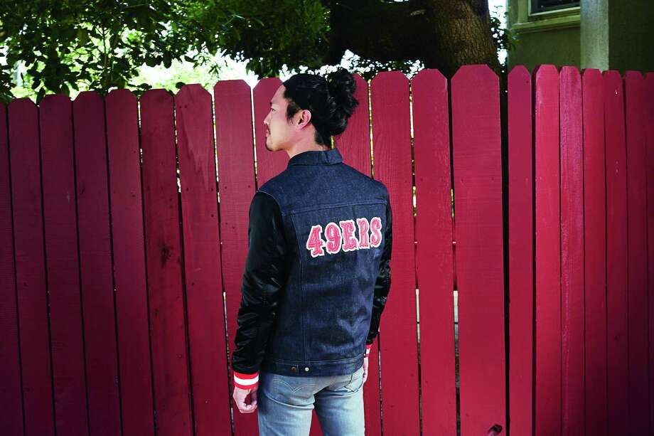 dc1345c56 A look from the new Levi s X 49ers Collection. Available at select San  Francisco Levi s