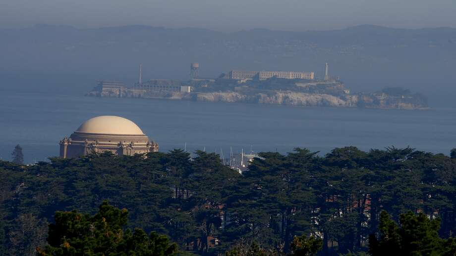 The view from Inspiration Point in the Presidio overlooks the Palace of Fine Arts and San Francisco Bay to Alcatraz Island. Photo: Kurt Rogers, The Chronicle