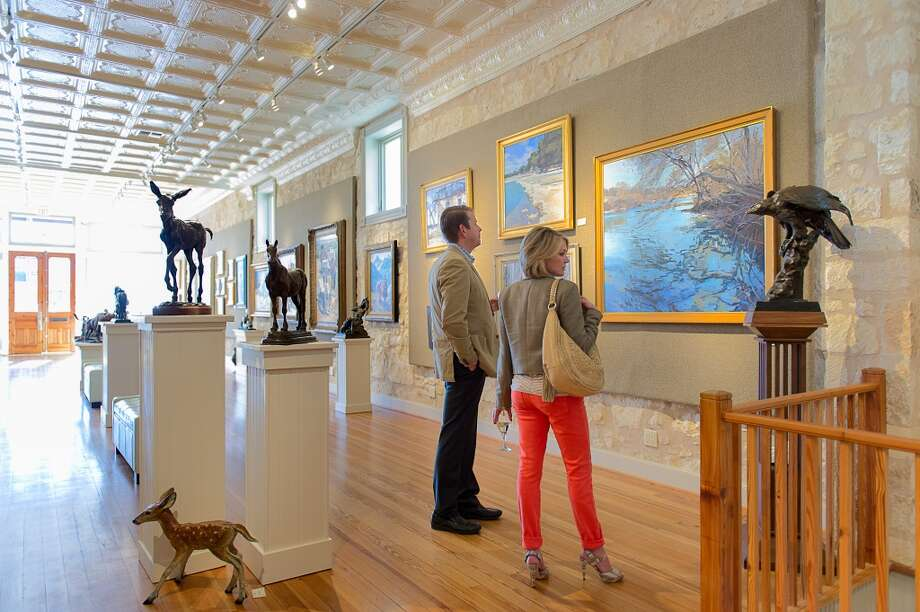 Patrons visit InSight Gallery during Fredericksburg's First Friday ArtWalk. Photo: Blake Mistich, Courtesy Photo